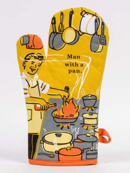 Man With a Pan - Oven Mitt