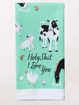 Holy Shit I Love You - Tea Towel