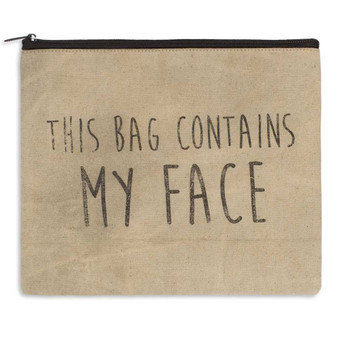 This Bag Contains My Face Canvas Travel Bag