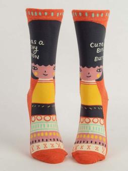 Cute as a Bitchy Button Women's Socks
