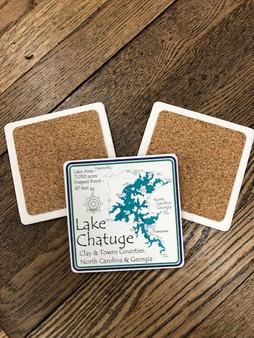 CoasterStone Lake Chatuge Coasters - set of 4
