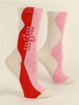 """HaHaHa """"Free Time""""  Women's Socks"""