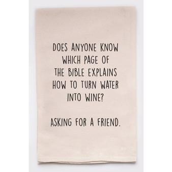 Water Into Wine Towel