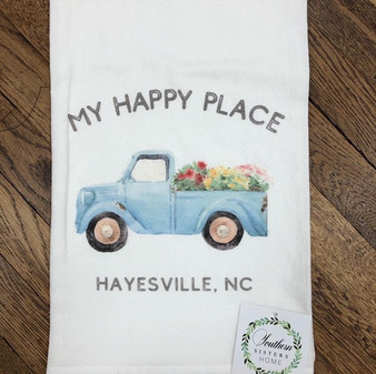 My Happy Place Hayesville NC Towel