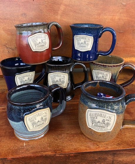 Hayesville NC Courthouse Hand Thrown Mugs