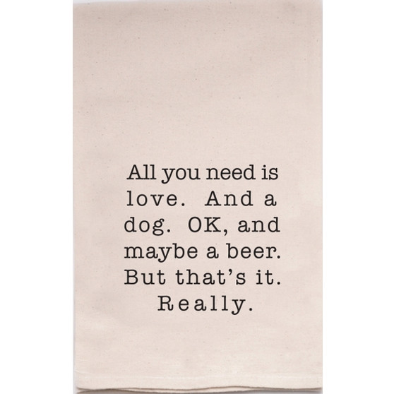 Love and a Dog...and a Beer Towel