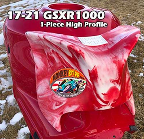 """17-21 Suzuki GSXR1000 One-Piece """"High Profile"""" MonkeyGripp"""