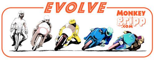 "MonkeyGripp 4"" Evolve Sticker"