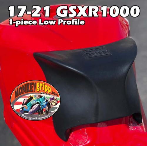 """17-21 Suzuki GSXR1000 One-Piece """"Low Profile"""" MonkeyGripp"""
