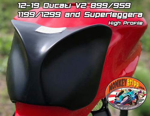 "12-19 Ducati Panigale V2 899/959/1199/1299 Superleggera One-piece ""High Profile"" MonkeyGripp"
