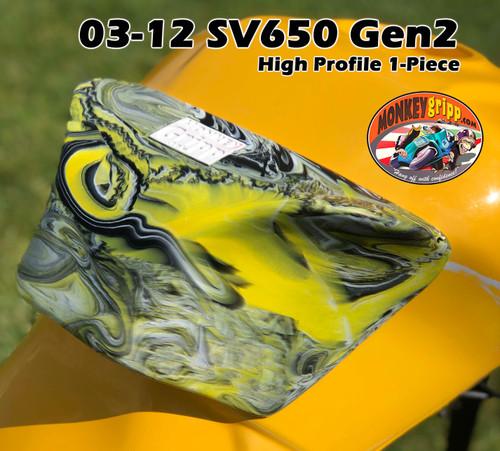 """03-12 Suzuki SV650 Gen2  & 03-07 SV1000 """"High Profile"""" One-piece MonkeyGripps"""