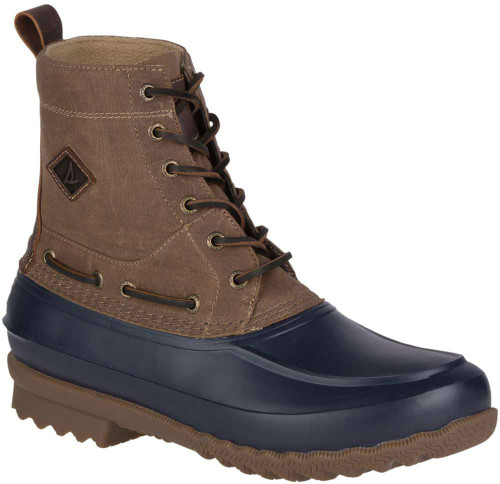 Sperry Decoy Boot Wax Canvas Waterproof Mens Category: Boots Color: Dark Brown ItemNumber: MSTS16637