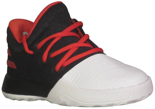 Adidas Harden Vol 1 Toddler Boys Category: Fashion Sneakers Color: Core Black - Scarlet - Running White ItemNumber: TBW0628