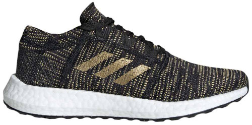 Adidas PureBoost Go Womens Category: Running Color: Core Black - Gold Metallic - Carbon ItemNumber: WF36346
