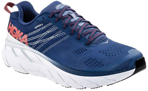 Hoka One One Clifton 6 Wide Mens Category: Running Color: Ensign Blue - Plein Air ItemNumber: M1102876-EBPA