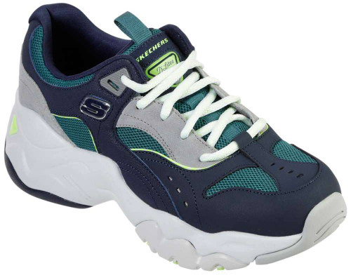 Skechers D-Lites 3-0 Ocean Cloud Womens Category: Fashion Sneakers Color: Navy - Green ItemNumber: W13377NVGR
