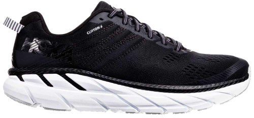 Hoka One One Clifton 6 Womens Category: Running Color: Black - White ItemNumber: W1102873-BWHT