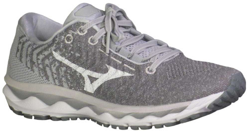 Mizuno Wave Sky Waveknit 3 Wide Womens Category: Running Color: Glacier Grey - White ItemNumber: W411109-9A00