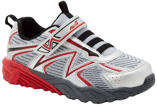 Avia Avi-Force II Boys Category: Running Color: ChromeSilver - ClassicRed - Black - IroGrey ItemNumber: BA8425B-SRX