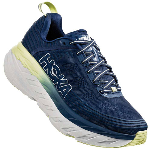 Hoka One One Bondi 6 Womens Category: Running Color: Ensign Blue - Lime Sherbet ItemNumber: W1019270-EBLS