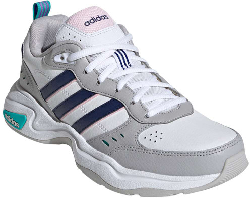 Adidas Strutter Womens Category: Fashion Sneakers Color: Cloud White - Dark Blue - Clear Pink ItemNumber: WEG2689