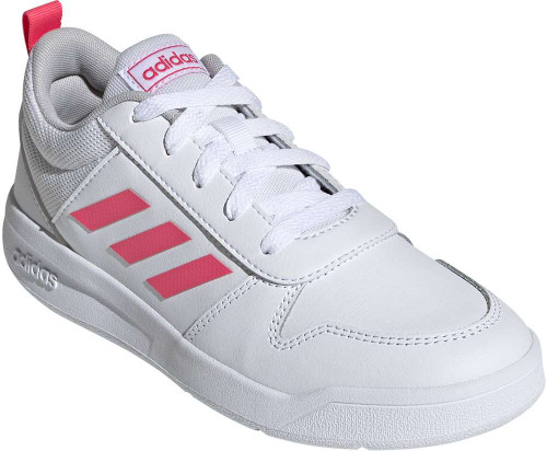 Adidas Tensaur Girls Category: Fashion Sneakers Color: White - Real Pink - White ItemNumber: GEF1088