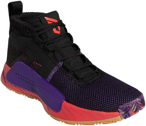Adidas Dame 5 Mens Category: Basketball Color: Core Black - Shock Red - Active Purple ItemNumber: MBB9313