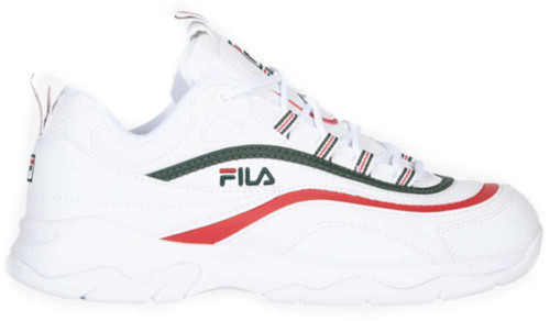 Fila Fila Ray Womens Category: Fashion Sneakers Color: White - Sycamore - Fila Red ItemNumber: W5RM00522-124