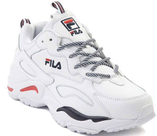 Fila Ray Tracer Womens Category: Fashion Sneakers Color: White - Fila Navy - Fila Red ItemNumber: W5RM00735-125