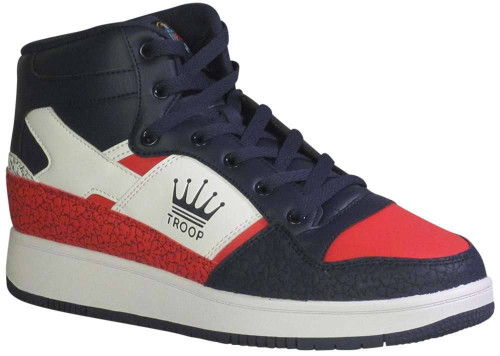World of Tro Troop Destroyer Mid Mens Category: Fashion Sneakers Color: White - Peacoat - Chinese Red ItemNumber: M1CM00846-125