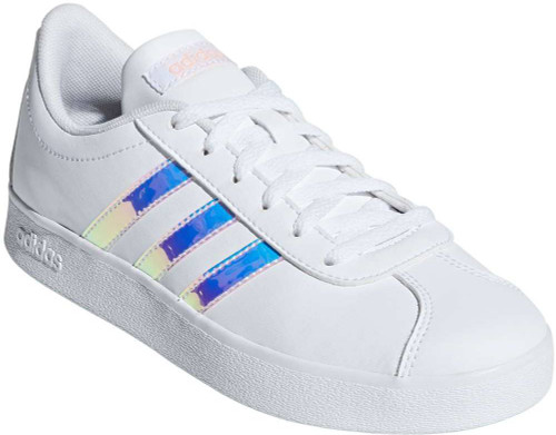 Adidas VL Court 2-0 Girls Category: Fashion Sneakers Color: Cloud White - Cloud White - Clear ItemNumber: GF36384