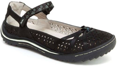 Jambu Cherry Blossom Womens Category: Flats Color: Black - Seafoam ItemNumber: WJ18CHR07