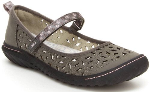 Jbu Wildflower Mary Jane Womens Category: Flats Color: Dove Grey ItemNumber: WB9WMJ19