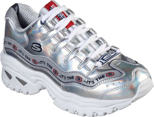 Skechers Energy Steel Wave Womens Category: Fashion Sneakers Color: Silver ItemNumber: W13419SIL