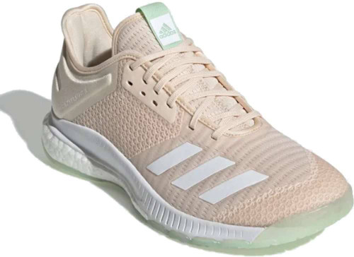 Adidas CrazyFlight X 3 Womens Category: Indoor Court Color: Linen - White - Glow Green ItemNumber: WEF0129
