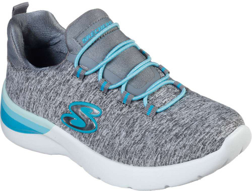 Skechers Dynamight 2-0 Painted Perfect Girls Category: Cross Training Color: Grey - Turquoise ItemNumber: G81346L-GYTQ
