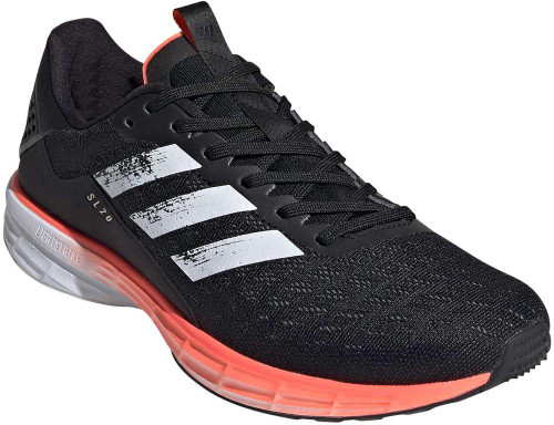 Adidas SL20 Mens Category: Running Color: Core Black - Cloud White - Signal Coral ItemNumber: MEG1144