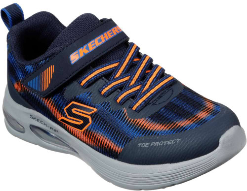 Skechers Skech- Air Dual Boys Category: Cross Training Color: Navy - Orange ItemNumber: B400032L-NVOR