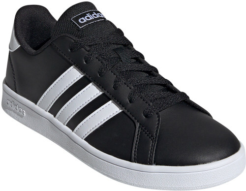 Adidas Grand Court Wide Boys Category: Fashion Sneakers Color: Core Black - Ftwr White - Ftwr White ItemNumber: BEF0111