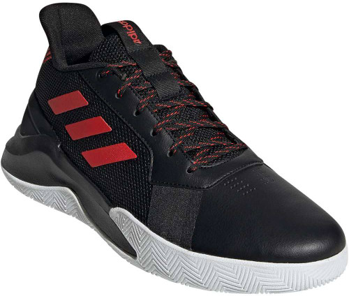 Adidas RunTheGame Mens Category: Basketball Color: Core Black - Core Black - Active Red ItemNumber: MEF1022