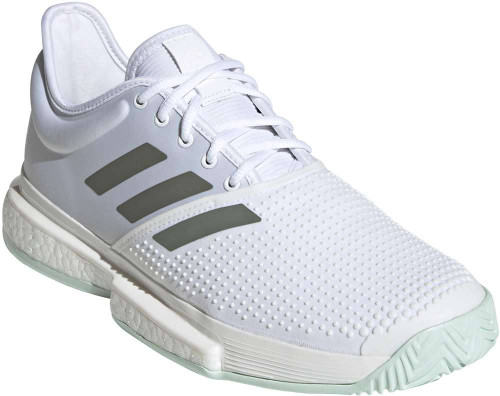 Adidas SoleCourt Mens Category: Tennis Color: White - Legacy Green - Green Tint ItemNumber: MEG1482