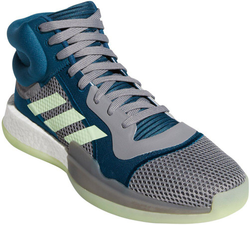 Adidas Marquee Boost Mens Category: Basketball Color: Tech Mineral - Glow Green - Grey Five ItemNumber: MF97277
