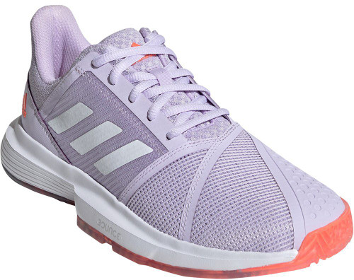 Adidas CourtJam Bounce Womens Category: Tennis Color: SignalCoral - PurpleTint - Purple ItemNumber: WEF2764