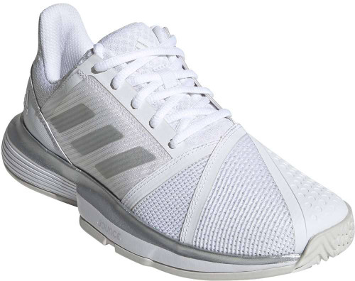Adidas Courtjam Bounce Wide Womens Category: Tennis Color: CloudWhite - Matte Silver - GreyOne ItemNumber: WEE6162