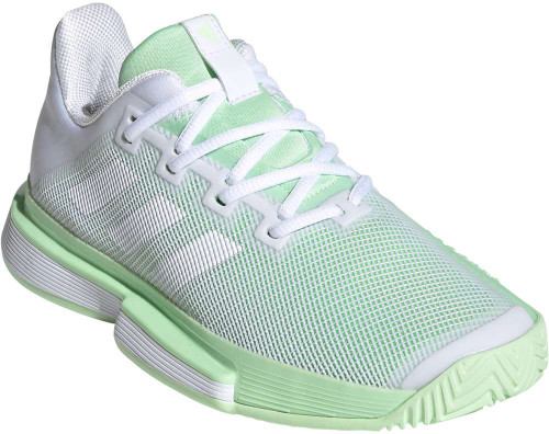 Adidas Solematch Bounce Womens Category: Tennis Color: Cloud White - Cloud White - Glow Green ItemNumber: WG26790