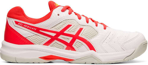 Asics Gel-Dedicate 6 Womens Category: Tennis Color: White - Laser Pink ItemNumber: W1042A067-102