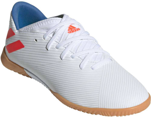 Adidas Nemeziz 19-3 Boys Category: Fashion Sneakers Color: Cloud White - Solar Red - Football Blue ItemNumber: BF99932