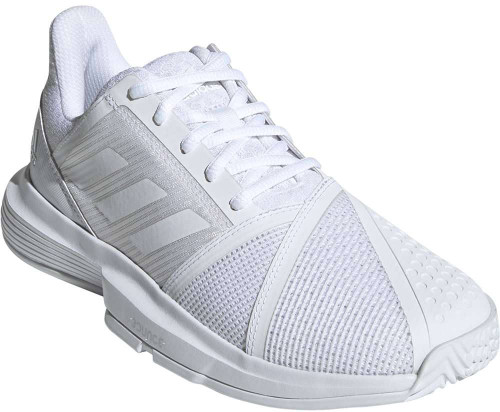 Adidas Courtjam Bounce Womens Category: Tennis Color: CloudWhite - CloudWhite - MatteSilver ItemNumber: WG26833