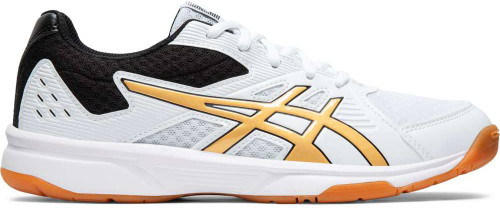 Asics Upcourt 3 Womens Category: Indoor Court Color: White - Pure Gold ItemNumber: W1072A012-106