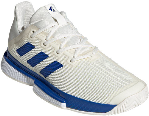 Adidas SoleMatch Bounce M Mens Category: Tennis Color: Off White - Royal Blue - Cloud White ItemNumber: MEG2215